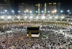 مراسم مذهبی مسلمانان در کعبه عربستان سعودی