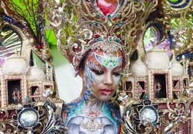 جشنواره نقاشی روی صورت در کره جنوبی