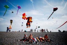 جشنواره بادبادک در سواحل جنوب فرانسه