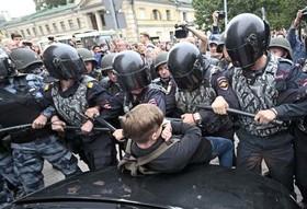 """تظاهرات در """"سنپترزبورگ"""" روسیه علیه طرح دولت برای افزایش سن بازنشستگی"""