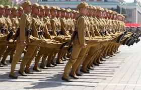 رژه نظامی به مناسبت هفتادمین سالگرد تاسیس حکومت کره شمالی