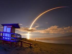 پرتاب ماهواره روی موشک فالکون از ایستگاه هوایی کیپ کارناوال