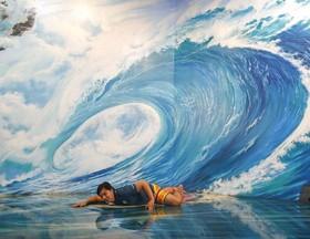 نقاشیهای سه بعدی در موزه هنر در بانکوک