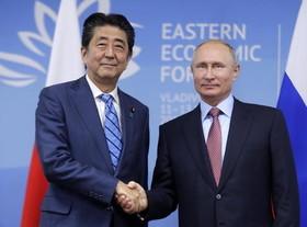 دیدار نخست وزیر ژاپن با رییس جمهوری روسیه در ولادی وستک روسیه