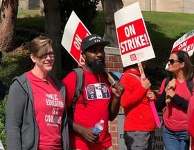 اعتصاب معلمان در واشنگتن