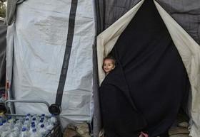 چادر پناهندگان در یونان
