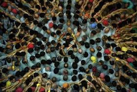 ساخت هرم انسانی در شهر تاراگونا اسپانیا