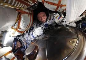 فضانوردان ناسا در پایگاه قزاقستان