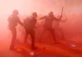 سرکوب تظاهرات جداییطلبان در اسپانیا