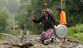 خسارت سیل در غرب گیلان