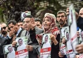 تظاهرات علیه قتل خاشقجی در استانبول