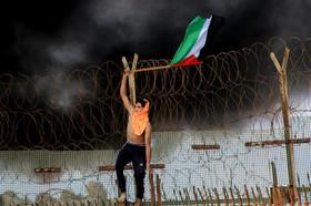 """اعتراضات ضد اسراییلی در """"بیت لاحیا"""" در باریکه غزه"""
