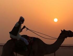 کارگر کویتی در جنوب غرب کویت