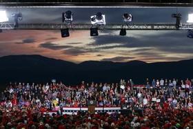 سخنرانی ترامپ در کارزار انتخاباتی نامزدهای جمهوریخواه انتخابات میاندورهای کنگره در ایالت مونتانا آمریکا