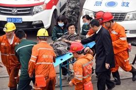 نجات معدنچیان از سانحه انفجار معدن در یونچنگ چین