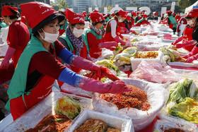 """جشنواره درست کردن """"کیمچی"""" – نوعی خوراک محبوب کرهای- در شهر سئول کره جنوبی"""