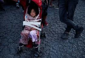 کاروان مهاجران کشورهای آمریکای مرکزی در حال حرکت به سمت مرز آمریکا