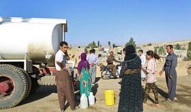 آبرسانی سیار به روستاهای دیواندره.