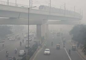 آلودگی شدید هوا در شهر دهلینو هند