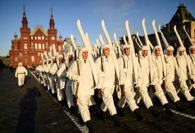 تمرین برای برگزاری سالگرد جنگ روسیه و آلمان در سال 1941، مسکو