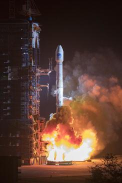پرتاب دو ماهواره چینی به فضا از استان سیچوان