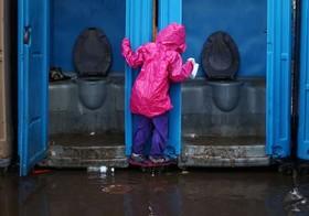 سیلاب در اردوگاه اسکان موقت مهاجران آمریکای مرکزی در مرز مکزیک و ایالات متحده آمریکا