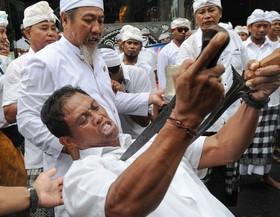 جشن خنجر در بالی، اندونزی