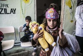 مهد کودک ساخته شده از سوی هلال احمر ترکیه در شهر ادلب سوریه