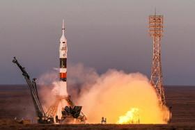 """پرتاب فضاپیمای سایوز """"ام اس 11"""" از پایگاه فضایی بایکونور قزاقستان به ایستگاه فضایی بینالمللی"""