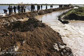 گسترش سیلاب در روستاهای دشت آزادگان