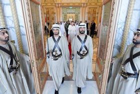 استقبال رسمی از پاپ فرانسیس در قصر رییس امارات متحده عربی در شهر ابوظبی