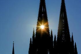 نمایی از کلیسای جامع شهر کلن آلمان
