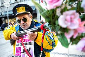 از معترضان به کنفرانس امنیتی مونیخ در این شهر آلمان