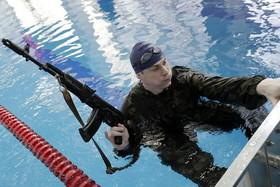 تمرین نیروهای ویژه پلیس روسیه