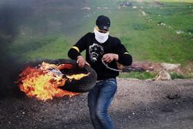 تظاهرات جوانان فلسطینی علیه شهرک سازیهای غیرقانونی اسراییل- رام الله