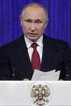 سخنرانی پوتین در کاخ کرملین به مناسبت روز سرزمین پدری در روسیه
