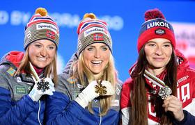 برندگان نروژی و روسی مسابقات جهانی اسکی زنان در اتریش