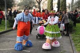 "کارناوال سالانه خیابانی در شهر ""آرزانو"" ایتالیا"