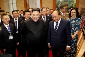 دیدار رهبر کره شمالی و نخست وزیر ویتنام