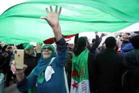"""تظاهرات علیه """"بوتفلیقه"""" رییس جمهوری الجزایر در شهر """"مارسی"""" فرانسه"""