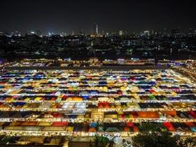 """بازار شبانه """"راچادا"""" در شهر بانکوک تایلند"""