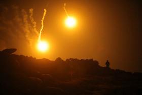 شلیک موشک به مواضع داعش در شهر باغوز سوریه