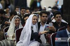 افتتاح قطار ۵ ستاره و بدرقه ۴۰۰ زوج ازدواجهای دانشجویی به مشهد مقدس