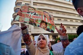 """تظاهرات دانشجویان در پایتخت الجزایر علیه """"عبدالعزیز بوتفلیقه""""رییس جمهوری الجزایر"""