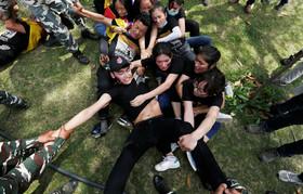 تظاهرات گروهی از دانشجویان تبتی در مقابل سفارت چین در شهر دهلینو در شصتمین سالگرد سرکوب قیام ملی تبتیها علیه حاکمیت دولت چین