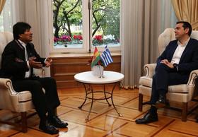 دیدار نخست وزیر یونان و رییس جمهوری بولیوی در آتن