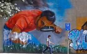 (تصاویر)  نقاشی دیواری در بیروت
