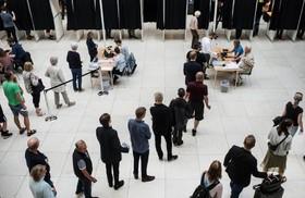 (تصاویر)  انتخابات مجلس در دانمارک