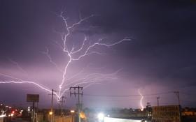 (تصاویر)  توفان و رعدوبرق در ایالت هیدالگو مکزیک