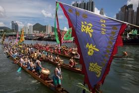 (تصاویر)  مراسم قایق اژدها در هنگ کنگ